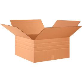 "Multi-Depth Cardboard Corrugated Boxes 24"" x 24"" x 12"" 200#/ECT-32 - Pkg Qty 10"