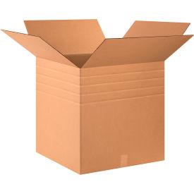 "Multi-Depth Cardboard Corrugated Boxes 24"" x 24"" x 24"" 200#/ECT-32 - Pkg Qty 10"
