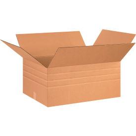 "Multi-Depth Cardboard Corrugated Boxes 26"" x 20"" x 12"" 200#/ECT-32 - Pkg Qty 10"