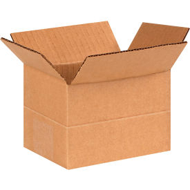 "Multi-Depth Cardboard Corrugated Boxes 6"" x 4"" x 4"" 200#/ECT-32 - Pkg Qty 25"