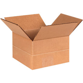 "Multi-Depth Cardboard Corrugated Boxes 6"" x 6"" x 4"" 200#/ECT-32 - Pkg Qty 25"