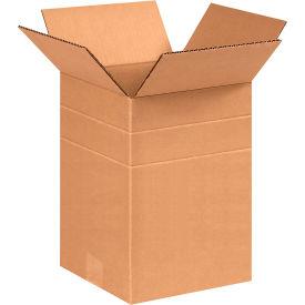 "Multi-Depth Cardboard Corrugated Boxes 8-1/2"" x 8-1/2"" x 12"" 200#/ECT-32 - Pkg Qty 25"