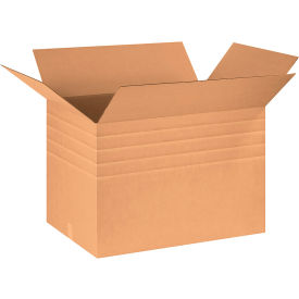"""Heavy-Duty Multi-Depth Cardboard Corrugated Boxes 30"""" x 20"""" x 20"""" 275#/ECT-44 - Pkg Qty 10"""