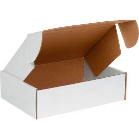 "Corrugated Tab Lock Literature Mailers 12-1/8"" x 9-1/4"" x 3"" 200#/ECT-32 White - Pkg Qty 50"