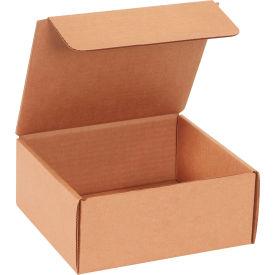 "Corrugated Literature Mailers 7-1/2"" x 7"" x 3-1/4"" 200#/ECT-32 Kraft - Pkg Qty 50"
