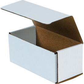 """Corrugated Mailers 7-1/2"""" x 3-1/2"""" x 3-1/4"""" 200#/ECT-32 White - Pkg Qty 50"""