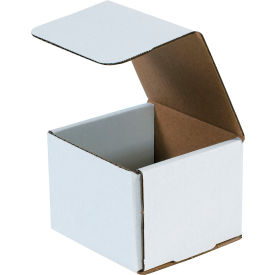 """Corrugated Mailers 4-3/8"""" x 4-3/8"""" x 3-1/2"""" 200#/ECT-32 White - Pkg Qty 50"""