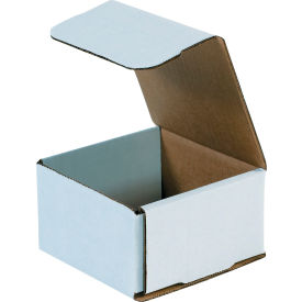 """Corrugated Mailers 4-3/8"""" x 4-3/8"""" x 2-1/2"""" 200#/ECT-32 White - Pkg Qty 50"""
