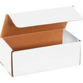 """Corrugated Mailers 10"""" x 4-7/8"""" x 3-3/4"""" 200#/ECT-32 White - Pkg Qty 50"""