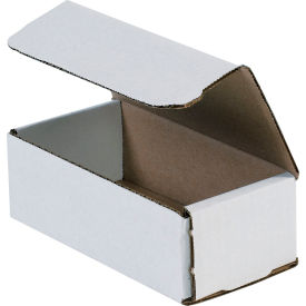 """Corrugated Mailers 6"""" x 3-5/8"""" x 2"""" 200#/ECT-32 White - Pkg Qty 50"""