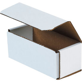 """Corrugated Mailers 6"""" x 2-1/2"""" x 2-3/8"""" 200#/ECT-32 White - Pkg Qty 50"""