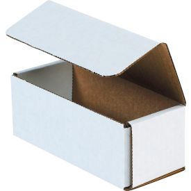 """Corrugated Mailers 6-1/2"""" x 2-3/4"""" x 2-1/2"""" 200#/ECT-32 White - Pkg Qty 50"""