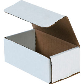 """Corrugated Mailers 6-1/2"""" x 3-5/8"""" x 2-1/2"""" 200#/ECT-32 White - Pkg Qty 50"""