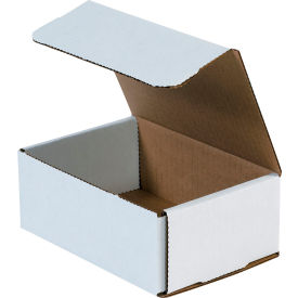 """Corrugated Mailers 6-1/2"""" x 4-1/2"""" x 2-1/2"""" 200#/ECT-32 White - Pkg Qty 50"""