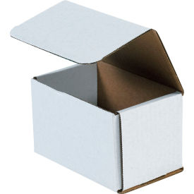 """Corrugated Mailers 5-1/2"""" x 3-1/2"""" x 3-1/2"""" 200#/ECT-32 White - Pkg Qty 50"""
