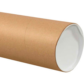 "Jumbo Mailing Tubes with Caps 6"" x 36"", 0.125"" Thick, Kraft - Pkg Qty 10"