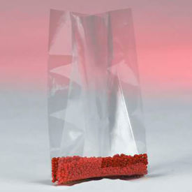 """Gusseted Polyethylene Bags 15"""" x 9"""" x 24"""" 4 Mil, Clear - 250/Case"""