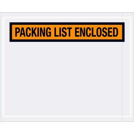 "Panel Face Envelopes - ""Packing List Enclosed"" 4-1/2 x 5-1/2"" Orange, 1000/Case"