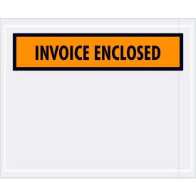 "Panel Face Envelopes - ""Invoice Enclosed"" 4-1/2 x 5-1/2"" Orange - 1000/Case"