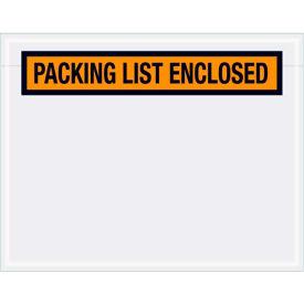 "Panel Face Envelopes - ""Packing List Enclosed"" 5-1/2 x 7"" Orange, 1000/Case"