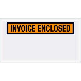 "Panel Face Envelopes - ""Invoice Enclosed"" 5-1/2 x 10"" Orange - 1000/Case"