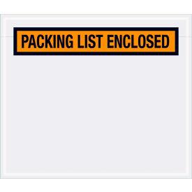 "Panel Face Envelopes - ""Packing List Enclosed"" 6 x 7"" Orange, 1000/Case"