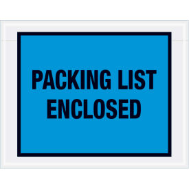 "Full Face Envelopes - ""Packing List Enclosed"" 5-1/2 x 7"" Blue - 1000/Case"