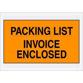 "Full Face Envelopes - ""Packing List/Invoice Enclosed"" 7 x 10"" Orange - 1000/Case"