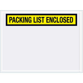"Panel Face Envelopes - ""Packing List Enclosed"" 4-1/2 x 6"" Yellow, 1000/Case"