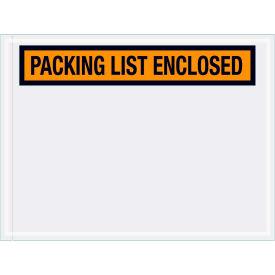"Panel Face Envelopes - ""Packing List Enclosed"" 4-1/2 x 6"" Orange, 1000/Case"
