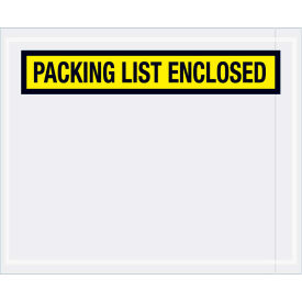 """Panel Face Envelopes - """"Packing List Enclosed"""" 4-1/2 x 5-1/2"""" Yellow, 1000/Case"""