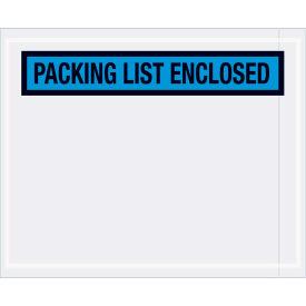 "Panel Face Envelopes - ""Packing List Enclosed"" 4-1/2 x 5-1/2"" Blue, 1000/Case"
