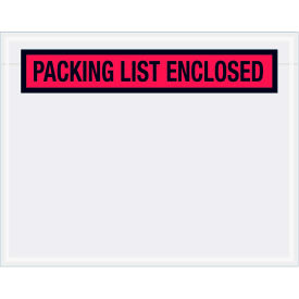 """Panel Face Envelopes - """"Packing List Enclosed"""" 5-1/2 x 7"""" Red, 1000/Case"""