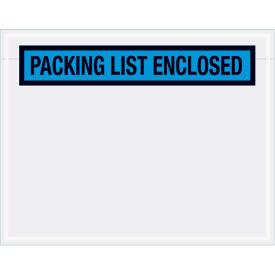 "Panel Face Envelopes - ""Packing List Enclosed"" 5-1/2 x 7"" Blue, 1000/Case"