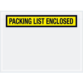 """Panel Face Envelopes - """"Packing List Enclosed"""" 6-3/4 x 5"""" Yellow, 1000/Case"""