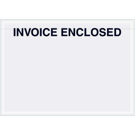 "Panel Face Envelopes - ""Invoice Enclosed"" 5 x 7"" Clear - 1000/Case"