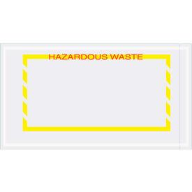 """Panel Face Envelopes - """"Hazardous Waste"""" 5-1/2 x 10"""" Yellow/Red - 1000/Case"""