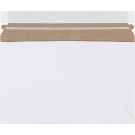 """Self-Seal Side Loading Stayflat Mailers 9"""" x 6"""" White, 200 Pack"""