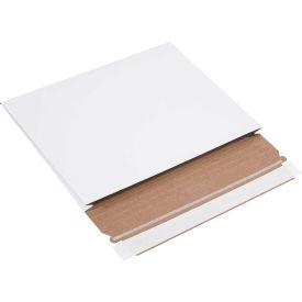 """Gusseted Self-Seal Stayflat Mailers 10"""" x 7-3/4"""" x 1"""" White, 100 Pack"""