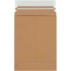 """Self-Seal Stayflat Mailers 6"""" x 8"""" Kraft, 100 Pack"""