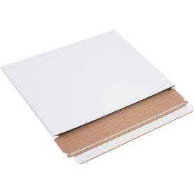 """Gusseted Self-Seal Stayflat Mailers 9-1/2"""" x 12-1/2"""" x 1"""" White, 100 Pack"""