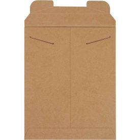 "Stayflat Tab Lock Mailers 9-3/4"" x 12-1/4"" Kraft, 100 Pack"