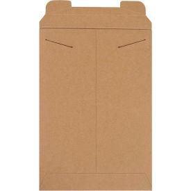 "Stayflat Tab Lock Mailers 11"" x 16"", Kraft, 100 Pack"