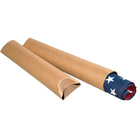 "Crimped End Mailing Tubes 4"" x 15"", 0.08"" Thick, Kraft - Pkg Qty 15"