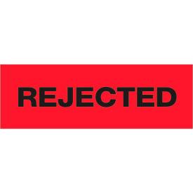 "Tape Logic® Printed Carton Sealing Tape ""Rejected"" 2"" x 55 Yds. Black/Red - Pkg Qty 18"