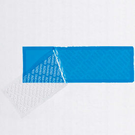 """Security Strips on a Roll 2"""" x 5-3/4"""" 3.9 Mil Blue 330 Strips per Roll"""