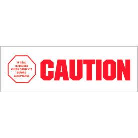 "Tape Logic® Printed Carton Sealing Tape ""Caution - If Seal Is Broken"" 2"" x 110 Yds. Red/White - Pkg Qty 18"