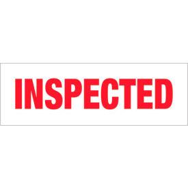 "Tape Logic® Printed Carton Sealing Tape ""Inspected"" 2"" x 110 Yds. 2.2 Mil Red/ White - Pkg Qty 6"