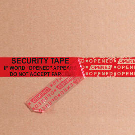 """Tape Logic® Secure Tape 3"""" x 60 Yds. 2.5 Mil Red 1 Pack"""
