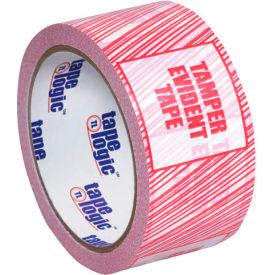 "Tape Logic® Security Tape ""Tamper Evident"" 3"" x 110 Yds. 2.5 Mil Red/White - Pkg Qty 6"